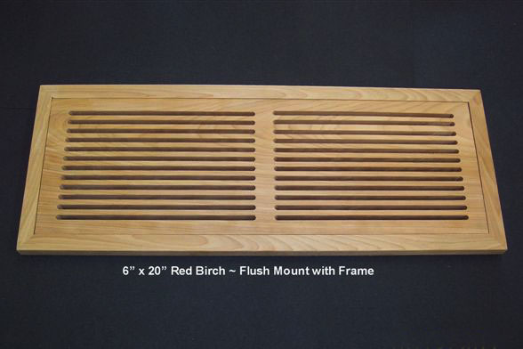 Custom Size Return Air Grille : Flush mount grilles
